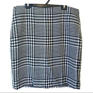 Liz Claiborne Houndstooth Plus Size Wool Skirt 18
